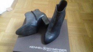 Kennel & Schmenger Stiefeletten Leder Silver metallic Gr. 4