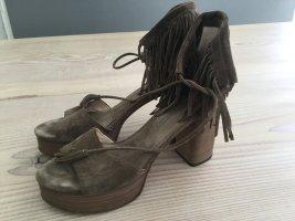 Kennel und Schmenger Platform High-Heeled Sandal multicolored