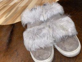 Kennel + schmenger Zapatillas con velcro color plata
