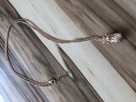 Collier incrusté de pierres or rose