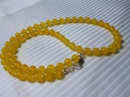 Cadena de plata naranja dorado