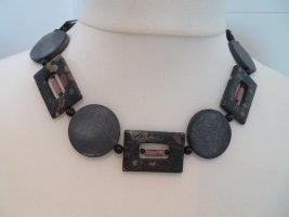 Collar estilo collier negro-gris antracita
