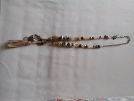 Necklace brown-oatmeal