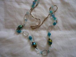 Necklace blue-light brown