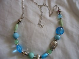 Necklace light blue-blue