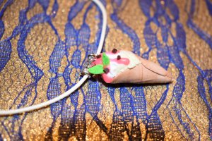 Kette Eis aus Fimo/Cernit Handmade