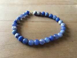 Collar estilo collier azul neón