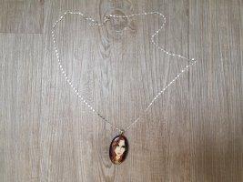 Kette mit Designer Anhänger Frau Venedig Wendeanhänger 60 cm