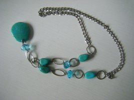 Collar turquesa-color plata