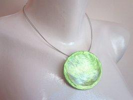 Culture Mix Collar de conchas verde tejido mezclado
