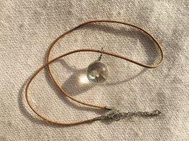 Necklace bronze-colored-natural white