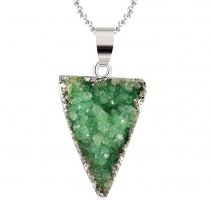 Collana argento-verde
