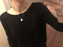 Collar de conchas marrón oscuro-color oro