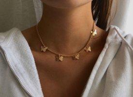 Gold Chain gold-colored-white