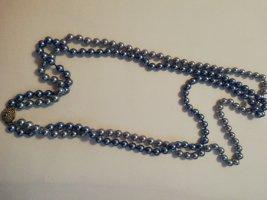 Naszyjnik z muszelek szary niebieski