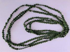 Necklace dark green-green grey