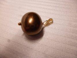 Kettenanhänger 925er Vergoldet , Farbe Dunkle Bronze