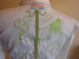 KEYO: Ausgefallene Bluse, Rückenstickerei, Gr. 36