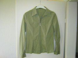 khaki Bluse mit Reißverschluss