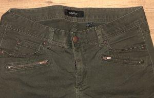 Khaki knöchellange Jeans