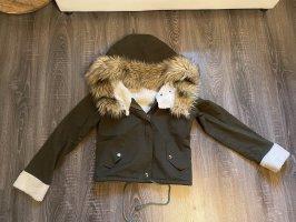 Sheinside Fur Jacket multicolored