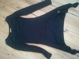 Khujo Camisa con cuello caído negro