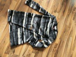 Khujo Gebreide jas wit-zwart