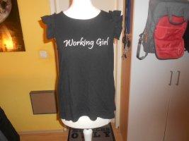 Kiabi- schwarzes T-Shirt mit Slogan Gr. M