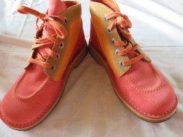 Kickers Enkellaarzen oranje-lichtrood Leer