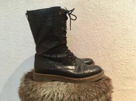 Kickers Stiefel, 100% Leder, Made in EU, Gr. 38