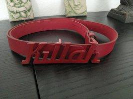 Killah Leather Belt dark red