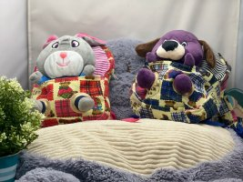 Kindergartenrucksack in Teddyform