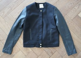 Kiomi Bikerjacke mit Lederärmeln schwarz Gr. 38 wie neu