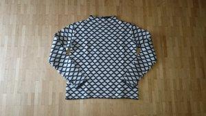 Kiomi Pullover Strickpullover schwarz weiß warm in Gr. S
