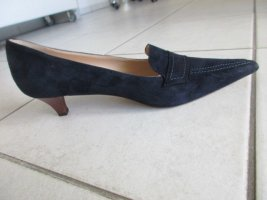 Evita Loafer blu scuro Pelle