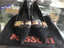 Missoni Loafers black-gold-colored leather