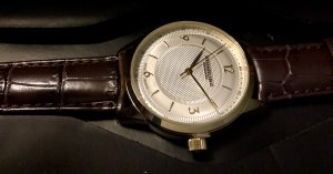 stührling Watch With Leather Strap gold-colored-brown leather