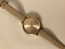 H&M Watch With Leather Strap rose-gold-coloured-cream