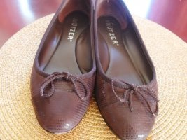 Unützer Mary Jane Ballerinas brown-light brown leather