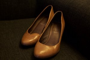 5th Avenue Pumps cognac Leer