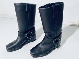 Klassische IXS Biker Boots Stiefel schwarzes Leder Gr. 36.5