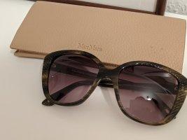 Max Mara Gafas de sol ovaladas violeta grisáceo-caqui