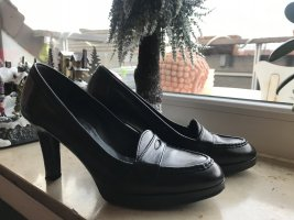 Uli Knecht High-Front Pumps black leather