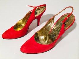 Bally Escarpins classiques  rouge-doré cuir