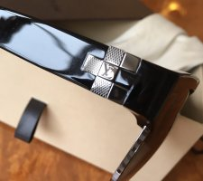 Louis Vuitton Angular Shaped Sunglasses black-silver-colored