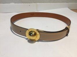 Celine Leather Belt camel-gold-colored leather