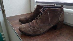 Paul Green Zapatos brogue marrón grisáceo