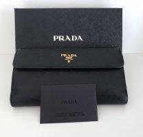 Klassisches Portemonnaie von Prada, schwarz, Leder
