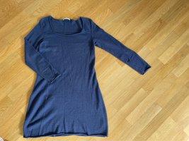Elena Berton Vestido de lana azul aciano
