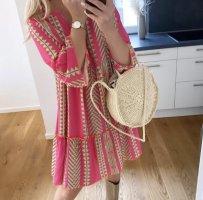 1.2.3 Paris Sukienka tunika różowy neonowy